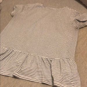 Size small striped peplum top